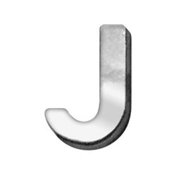"""3/4"""" (18mm) Chrome Letter Sliding Charms J"""