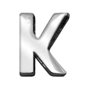 """3/4"""" (18mm) Chrome Letter Sliding Charms K"""