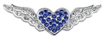 """3/8"""" Slider Aviator Charm - Blue Heart"""