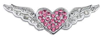"3/8"" Slider Aviator Charm - Pink Heart"