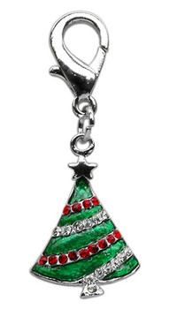 Holiday Lobster Claw Charms / Zipper Pulls Christmas Tree