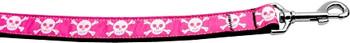 Pink Skulls Nylon Dog Leash