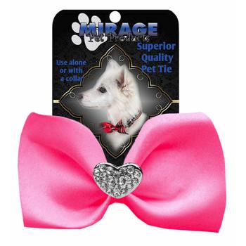 Crystal Heart Widget Pet Dog Bow Tie - 13 Colors