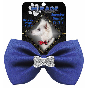 Crystal Bone Widget Pet Dog Bow Tie - 13 Colors