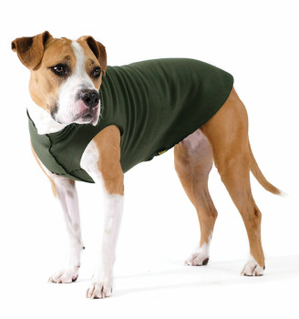 Gold Paw Stretch Fleece - Hunter Green