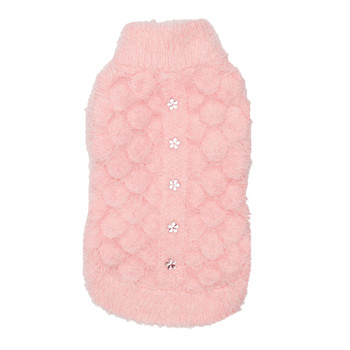 Mohair Blossom Dog Sweater - Pink