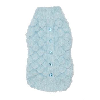 Mohair Blossom Dog Sweater - Blue