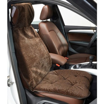 Chocolate Bones Microvelvet Single Car Seat Cover