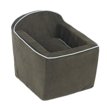 Espresso Microvelvet Luxury Car Booster Seat