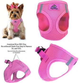 American River Ultra Choke Free Dog Harness - Candy Pink