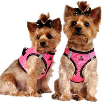 American River Top Stitched Collection Dog Harness - Iridescent Pink