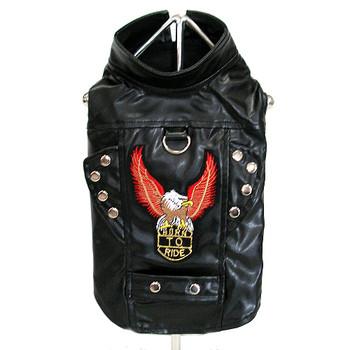 Black Dog Biker Jacket