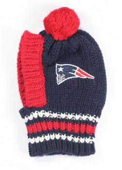 NFL New England Patriots Dog Knit Ski Hat