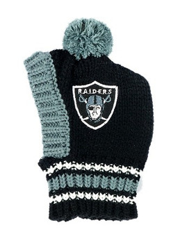 NFL Oakland Raiders Dog Knit Ski Hat