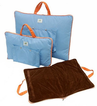 Travel Tote Pet Dog Carrier / Bed in Sky Blue