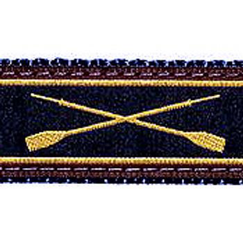 Crossed Oars 1.25 inch Dog Collar, Harness