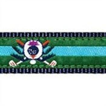 Blue Golf Thistle 1.25 inch Dog Collar, Harness