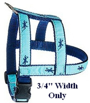 Turquoise Palm Tree 1/2, 3/4 & 1.25 inch Dog & Cat Collar, Harness