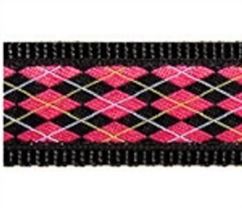 Black & Pink Argyle Dog Collars