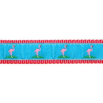 Flamingos 1/2, 3/4 & 1.25 inch Dog Collar, Harness