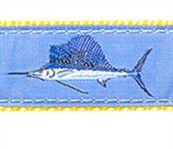 Lt Blue Sailfish Dog Collars
