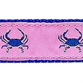 Blue Crab on Pink Dog Collars