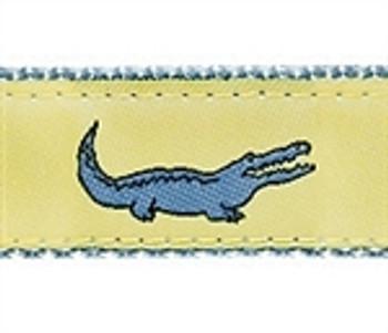 Yellow Alligator Dog Collars