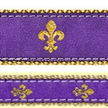 Purple Fleur de Lis Dog Collars