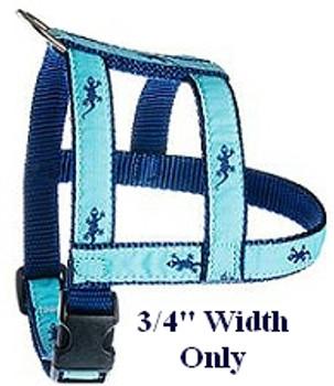 Light Blue Rainbow Fleet 1/2, 3/4 & 1.25 inch Dog & Cat Collar, Harness