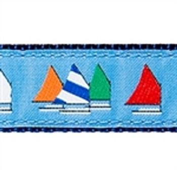 Light Blue Rainbow Fleet Dog Collars