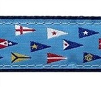 Yacht Club Burgee 3/4 & 1.25 inch Dog Collar, Harness