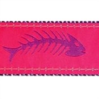 Fishbones Purple & Pink Dog Collars