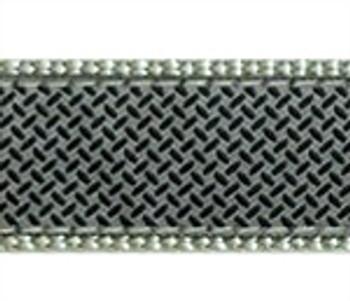Diamond Plate on Gray Dog Collars