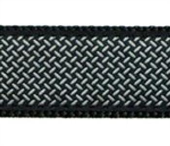 Diamond Plate on Black Dog Collars