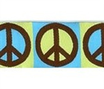 Peace Sign 3/4 & 1.25 inch Dog Collar, Harnesses