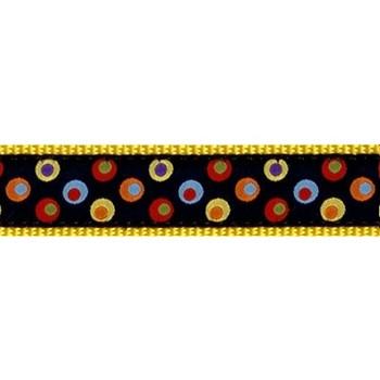 Dozer Dots 1.25 inch Dog Collar, Harness