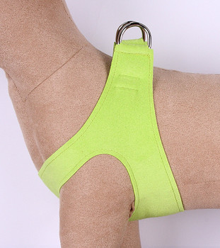 Plain Ultrasuede Pet Dog Step In Harness - Kiwi Green by Susan Lanci Designs