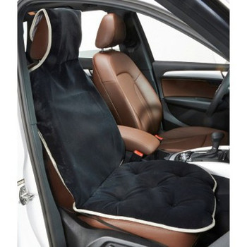 Ebony Microvelvet Single Car Seat Cover