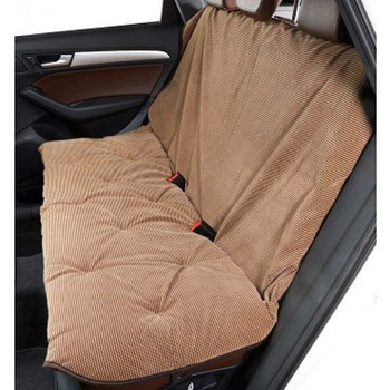 Houndstooth Microvelvet Vehicle Back Seat Cover