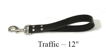 X-Heavy Duty Leather Town Lead - 12 inches