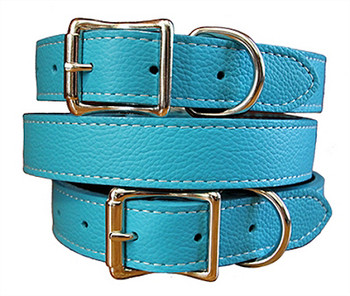 Tuscany Italian Leather Dog Collar Collection