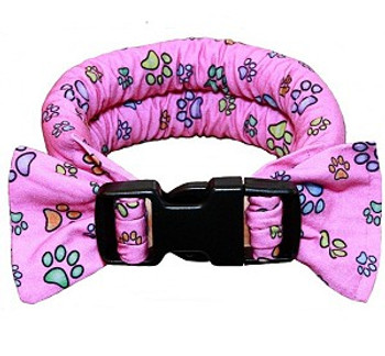 Too Cool Cooling Dog Collars - Paw Prints On Pink