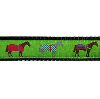 Race Horse 3/4 & 1.25 inch Dog Collar, Harness