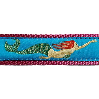 Mermaid, 3/4 & 1.25 inch Dog Collar, Harness