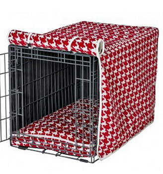 Canterbury Check Red Microvelvet Crate Cover
