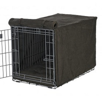 Coffee Brown Microvelvet Microcord Crate Cover