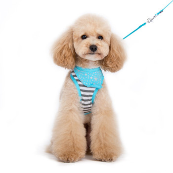 EasyGO Blue Bandana Pet Dog Harness & Leash