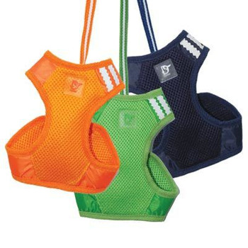 EasyGO Basic Pet Dog Harness & Leash - Navy/Orange/Green