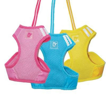EasyGO Basic Pet Dog Harness & Leash -Pink/Yellow/Blue