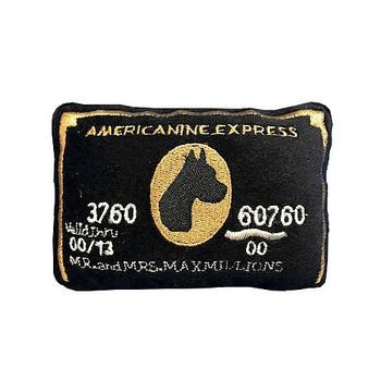 Americanine Express Bark Card Plush Pet Dog Toy